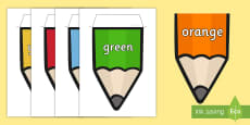 Australia Colours on Pencil Display Bunting