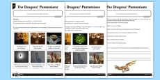 The Dragons' Possessions Differentiated Activity Sheet Pack
