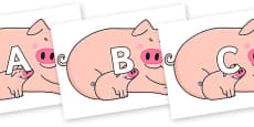 A-Z Alphabet on Hullabaloo Pigs to Support Teaching on Farmyard Hullabaloo