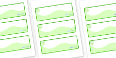 Green Themed Editable Drawer-Peg-Name Labels (Colourful)