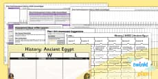 History: Ancient Egypt UKS2 Unit Assessment Pack