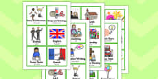 KS2 Visual Timetable Arabic Translation