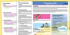 Computing: Presentation Skills Year 2 Planning Overview CfE