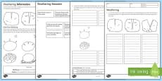 KS3 Weathering Homework Activity Sheet