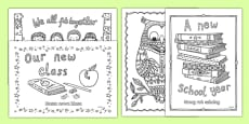 Back to School Themed Mindfulness Colouring Polish Translation