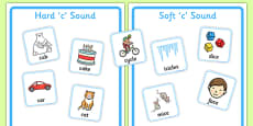 Hard and Soft C Sound Sorting Game