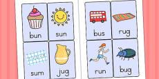 CVC Word Cards U