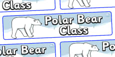 Polar Bear Themed Classroom Display Banner