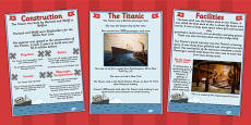 The Titanic Information Posters