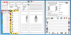 Superhero Themed Writing Activity Pack