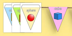 3D Shape Display Bunting