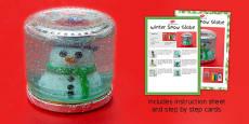 Winter Snow Globe Craft Instructions