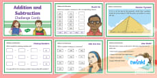 PlanIt Y3 Addition and Subtraction Challenge Cards