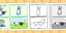 Little Bo Peep Story Sequencing 4 per A4 (Australia)
