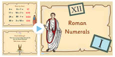 Roman Numerals Large Numbers Introduction and Activity PowerPoint