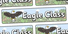 Eagle Themed Classroom Display Banner