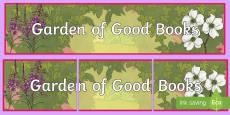 Garden of Good Books Display Banner