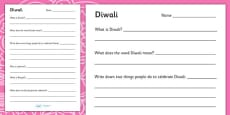 Diwali PowerPoint Activity Sheets