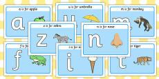 Basic Alphabet Playdough Mats