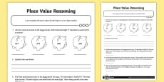 Place Value Two-Digit Reasoning Activity Sheet