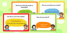Maths Speaking and Listening Talk Frame Cards