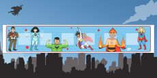 Superhero Themed Visual Timetable Display
