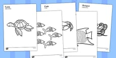 Under the Sea Colouring Posters Polish Translation