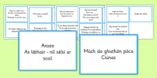 Everyday Phrases for Teachers Prompt Cards Gaeilge