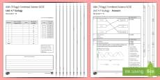 AQA (Trilogy) Unit 4.7 Ecology Test