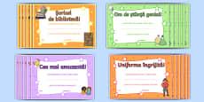 Diplome pentru aptitudini și talente - Recompense