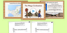 Introduction to the Mayan Civilization Lesson Teaching Pack PowerPoint