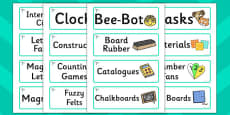 Dragonfly Themed Editable Additional Classroom Resource Labels