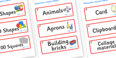 Kangaroo Themed Editable Classroom Resource Labels