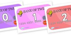 Numbers 0-31 on Debit Cards