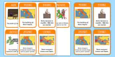 Roman Empire Timeline Cards