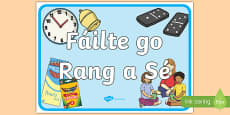 Welcome to Sixth Class Display Poster Gaeilge
