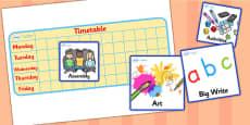 Editable Mini KS1 Visual Timetable