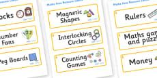 Aspen Themed Editable Maths Area Resource Labels