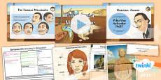 Art: European Art: Growing a Moustache LKS2 Lesson Pack 6