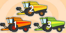 Numbers 0-31 on Combine Harvesters