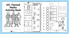 AFL Australian Football League Football Maths Activity Booklet