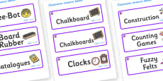 Amethyst Themed Editable Additional Classroom Resource Labels