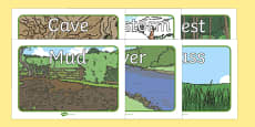 Bear Hunt Story Picture Cards