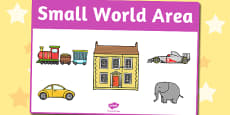 Small World Area Sign