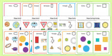 Workstation Pack   Shape Sorting Activity Pack