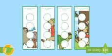 Puntos de libro con pegatinas de premio: La liebre y la tortuga