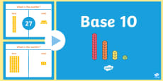 Place Value Base 10 Activity PowerPoint (Tens and Ones)