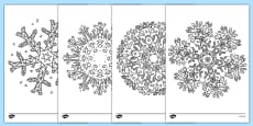 Mindfulness Colouring Snowflakes