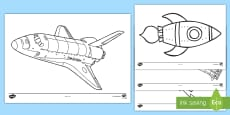 Rockets Colouring Pages