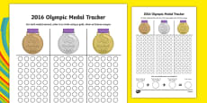 Olympic Medal Count and Add Activity Sheet